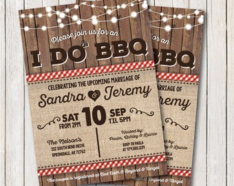 I Do BBQ Invitation. I Do BBQ Couples Shower. BBQ Invitation. I Do Bbq Engagement.