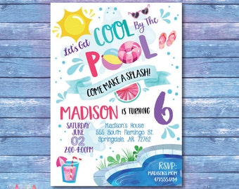 summer party invite etsy