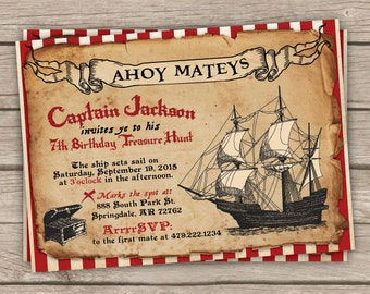 pirate invitations etsy