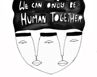 My Humanity Art Print // Desmond Tutu
