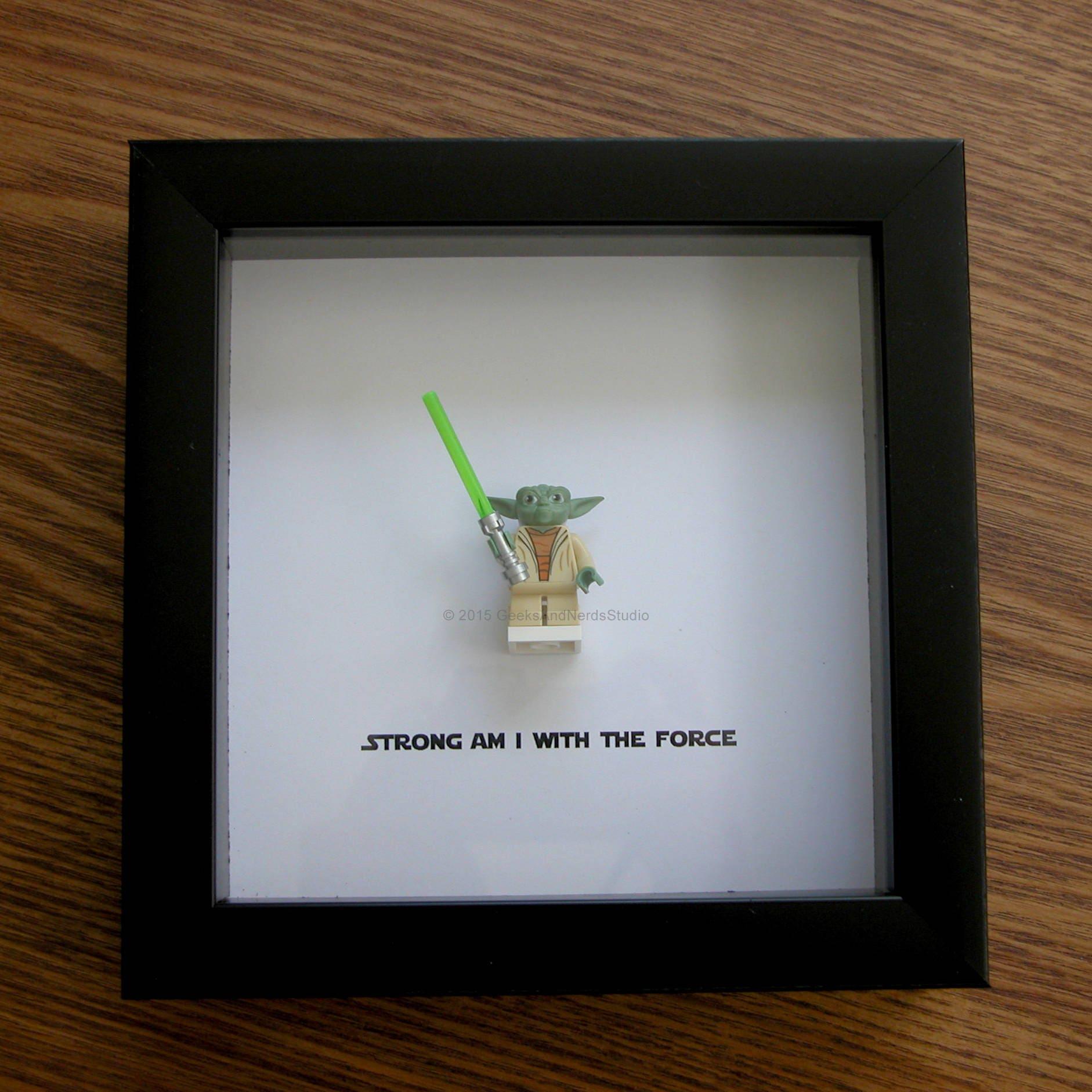 Star Wars gerahmte Kunst Meister Yoda LEGO Weihnachten
