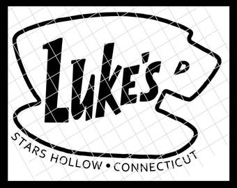 Luke's Diner Gilmore Girls - Cutting Files in SVG, EPS and DXF – Compatible with Silhouette Studio, Cricut and more - Instant Download