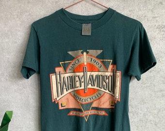 c2001cb6 1991 3D Emblem Harley Davidson Motorcycles Graphic T-Shirt