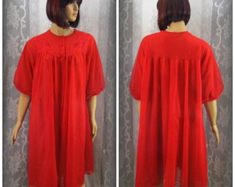 Red robe See through lingerie Lasy housecoat Sexy houes  da1d90e80