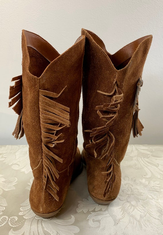 Women's suede boots, Women's Brown leather boots,… - image 5