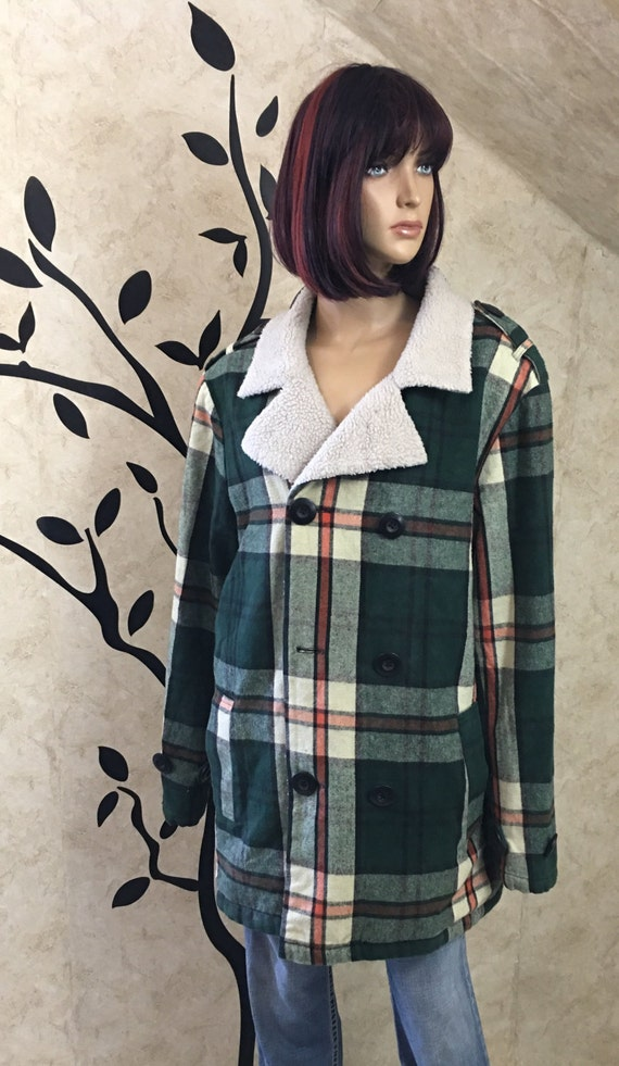 Plaid flannel, Insulated flannel, Warm flannel, G… - image 2