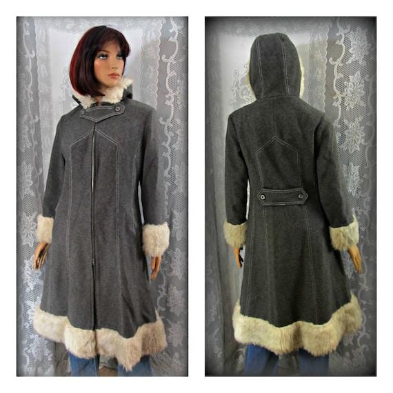 Gray wool coat, Size medium coat, Warm coat, Winte