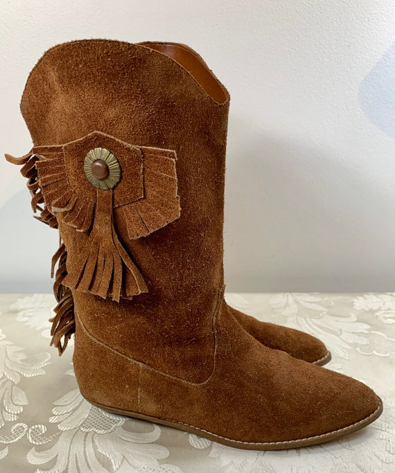 Women's suede boots, Women's Brown leather boots,… - image 7