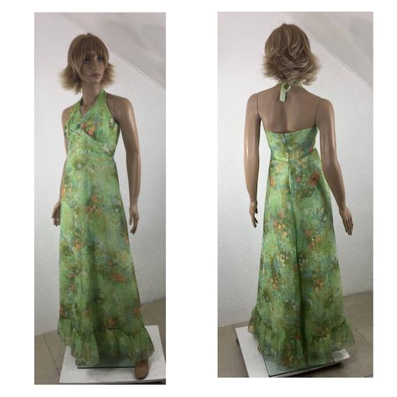 Halter dress, Evening dress, Formal dress, Vintage