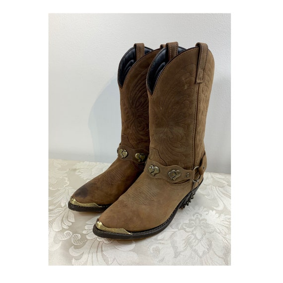 Women's Cowgirl boots, Women's Brown leather boots