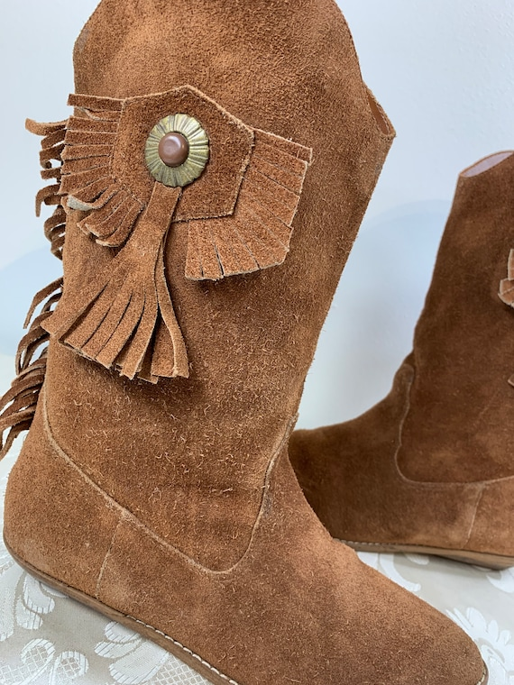Women's suede boots, Women's Brown leather boots,… - image 9