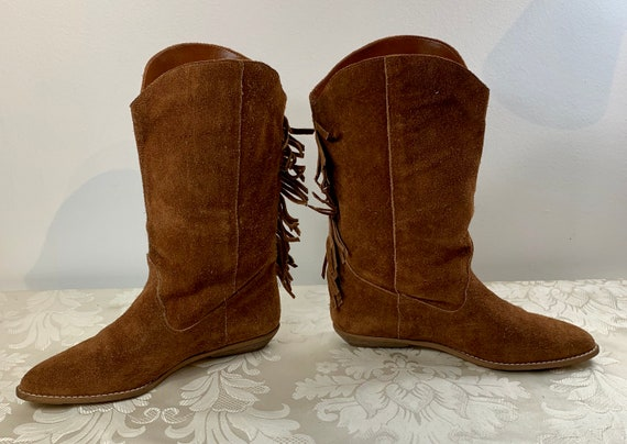 Women's suede boots, Women's Brown leather boots,… - image 8