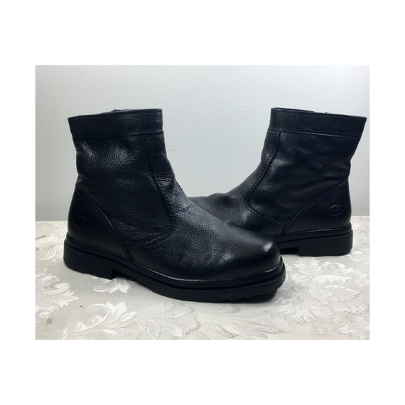 Mens leather boots, Black leather boots, Florsheim