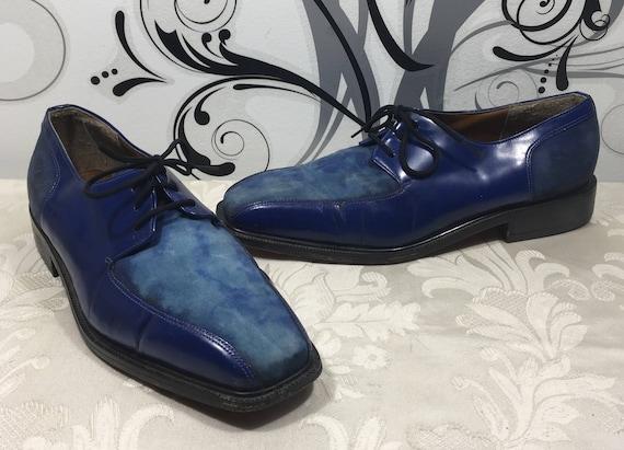 Men's blue shoes, Blue Dress shoes, Men's lace up