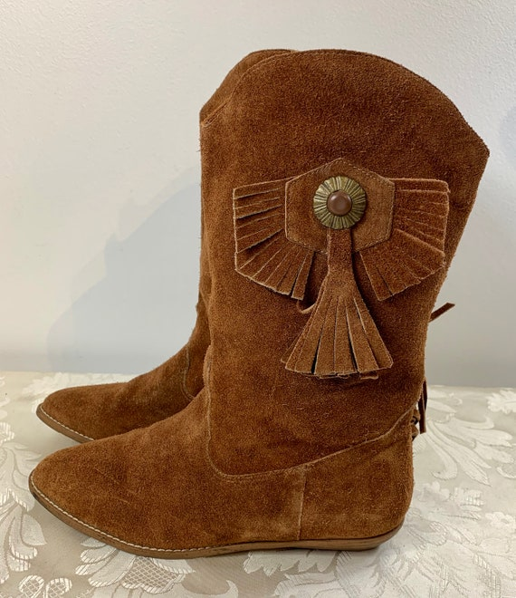 Women's suede boots, Women's Brown leather boots,… - image 4