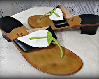 Women's sandals, Leather sandals, Size 7 sandals, Slip on shoes, Slide on shoes, Stylish sandals, Designer sandals