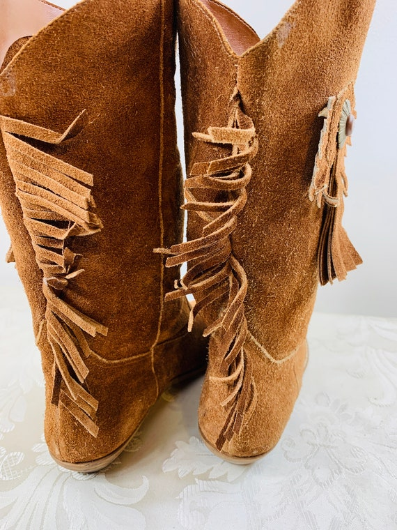 Women's suede boots, Women's Brown leather boots,… - image 6
