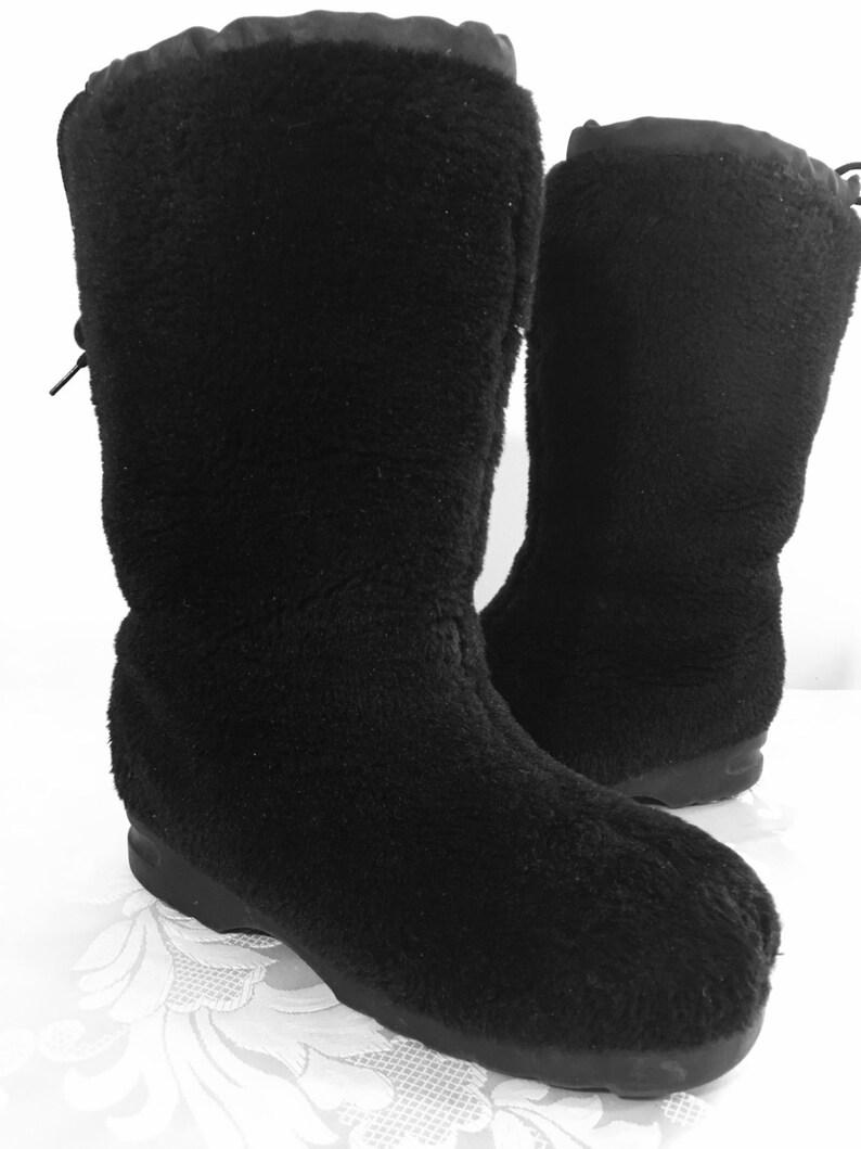 Womens boots Black fur boots Womens Winter boots Women/'s Size 8 12 boots Womens black boots Tall black boots