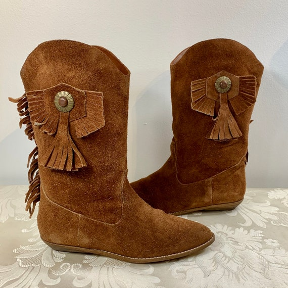 Women's suede boots, Women's Brown leather boots,… - image 1