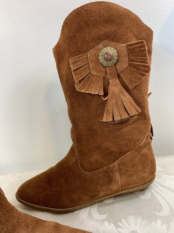 Women's suede boots, Women's Brown leather boots,… - image 2