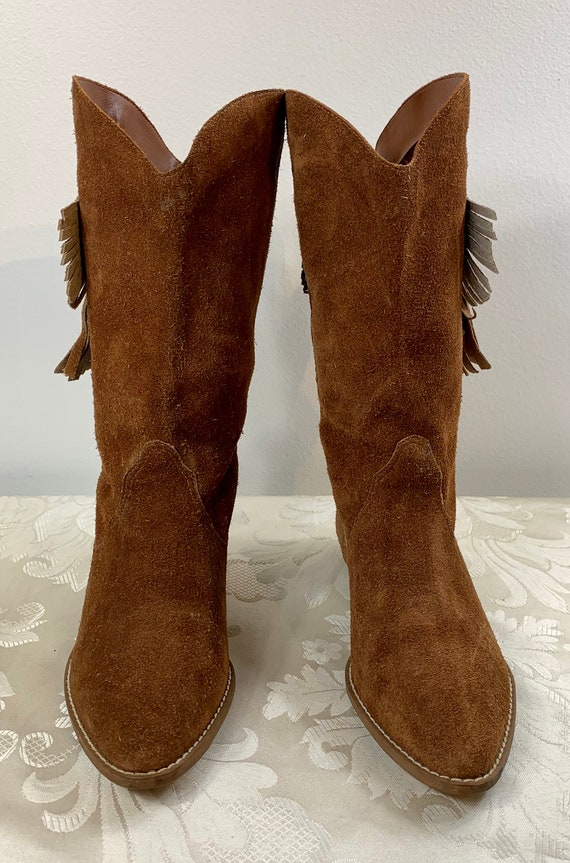 Women's suede boots, Women's Brown leather boots,… - image 3