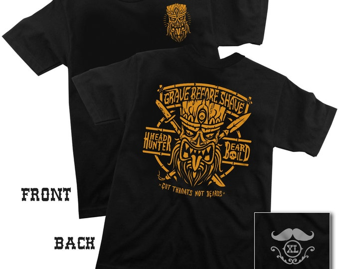 "GRAVE BEFORE SHAVE ""Head Hunter"" Tee shirt"