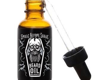 Grave Before Shave Enhanced Formula Beard Oil 1 oz. dropper bottle