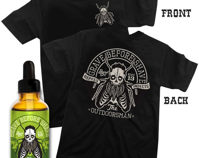 GRAVE BEFORE SHAVE Outdoorsman Tee/ Beard Oil combo