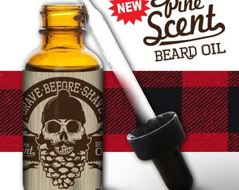 1 oz. dropper bottle of GRAVE BEFORE SHAVE Pine Scent Beard Oil