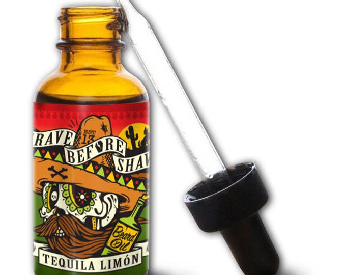 GRAVE BEFORE SHAVE Tequila Limon Blend Beard Oil 1oz.