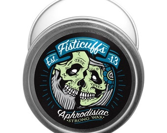 Fisticuffs™ Aphrodisiac Blend Strong Hold Mustache Wax 1 OZ. Tin