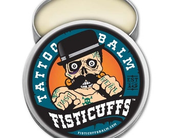 Fisticuffs Tattoo Balm   2oz. Tin