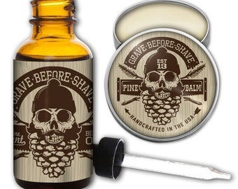 GRAVE BEFORE SHAVE Pine Scent Beard Pack