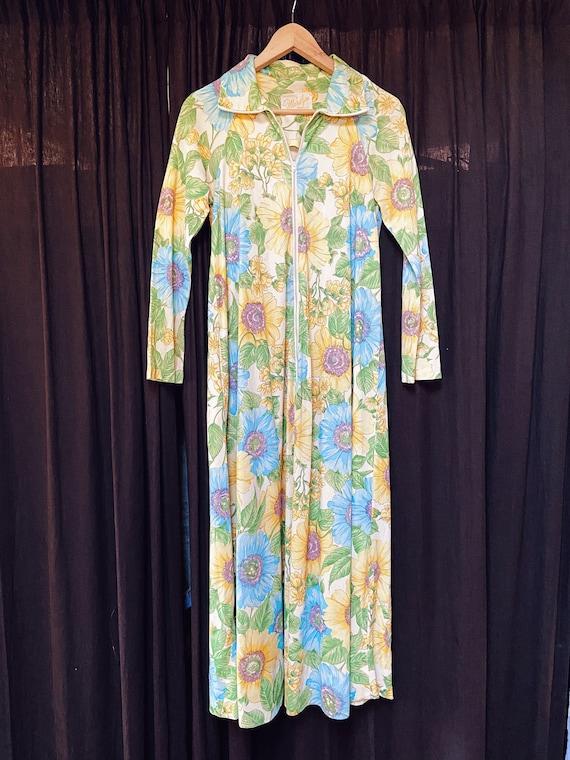 vintage 60s floral house dress