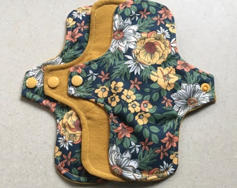 organic flannel top menstrual pads organic fleece absorbent core reusable cloth pads liners moderate heavy flow priced per pad