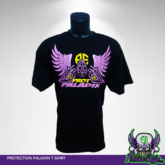 Protection Paladin T Shirt World Of Warcraft Inspired Wow Etsy