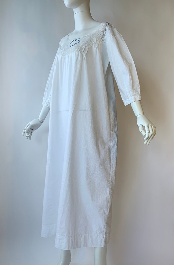 Antique Edwardian cotton dress boho chic - image 1