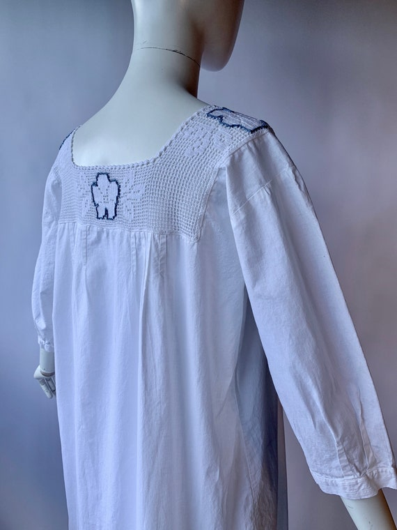 Antique Edwardian cotton dress boho chic - image 2