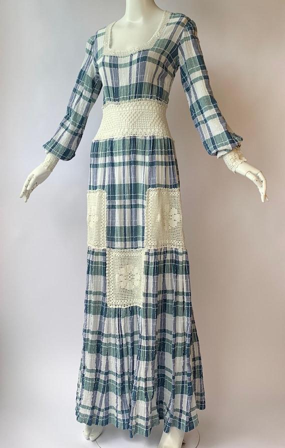 Vintage Gorgeous 1970's Boho Dress Hippie Chic