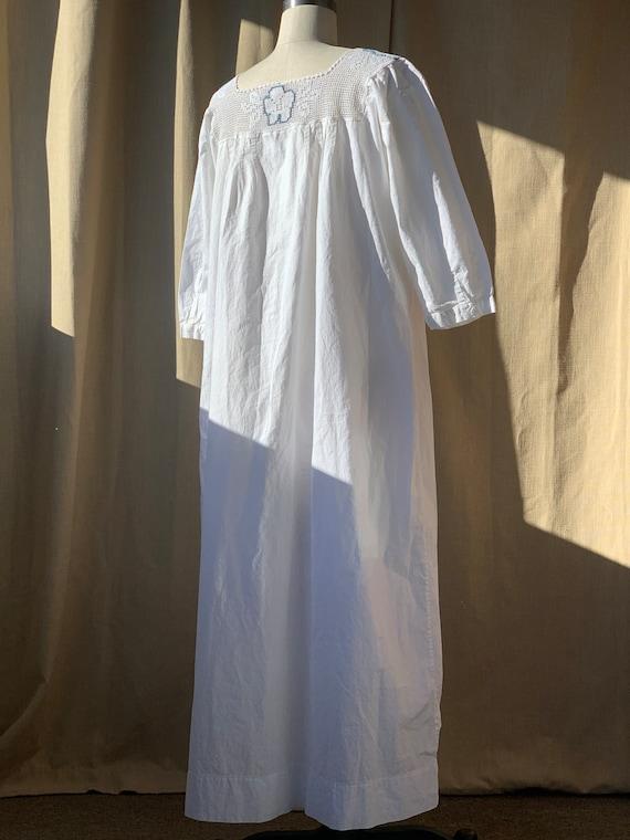 Antique Edwardian cotton dress boho chic - image 5