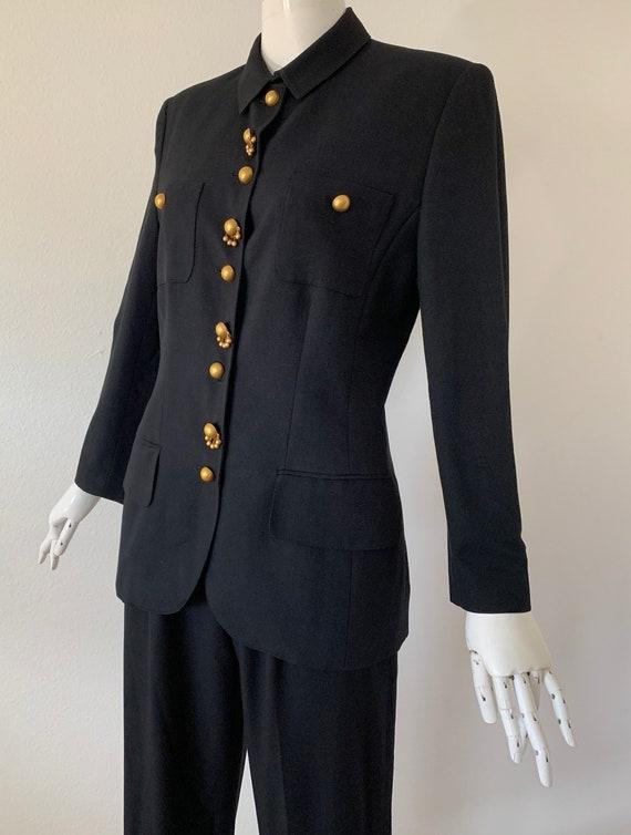 Vintage Lolita Lempicka Paris  Black  Pantsuit