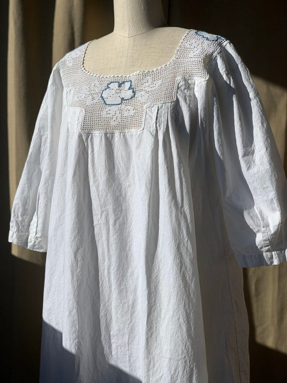 Antique Edwardian cotton dress boho chic - image 9