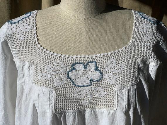 Antique Edwardian cotton dress boho chic - image 6