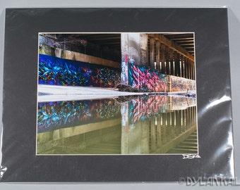 "Graffiti Reflection #1 - 8x10"" color print"
