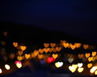 Love Bokeh Hearts Print 18x12 inch or 12x8 inch photo image - romantic sweetheart