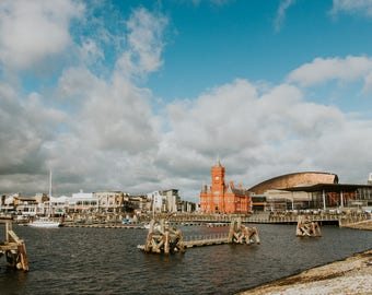 Cardiff Bay / Bae Caerdydd 18x12 or 12x8 inch photo print - Mermaid Quay - Pierhead building - Senedd - Tiger Bay - Cardiff Docks