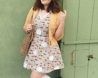 1960's Mod Gogo Polka Dotted Mini Dress