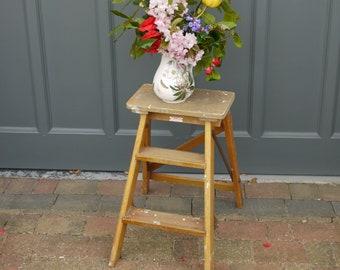 Vintage Step Ladder - Wooden Step Ladder - Antique Haberdashery Steps - Pantry Steps - Vintage Steps - Wooden Ladder - Wedding Decor