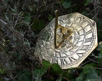 Vintage Brass Sun Dial   Garden Sun Dial   Sundial   Vintage Garden Decor    Brass Sun Dial   Vintage Garden Sun Dial   Vintage