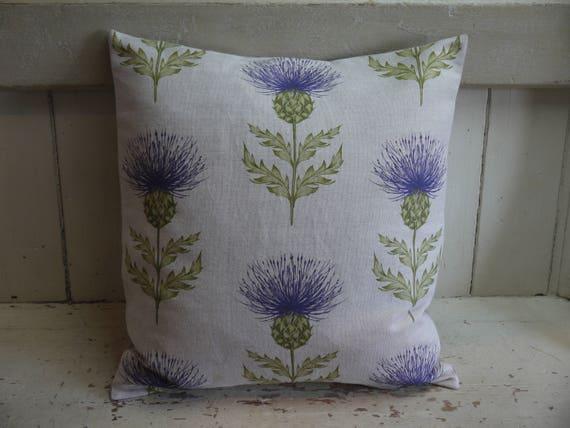 Luxury Handmade Cushion Thistles Feather Filled Cushion Handmade Pillow Living Room Cushions Thistle Cushion Luxury Pillows